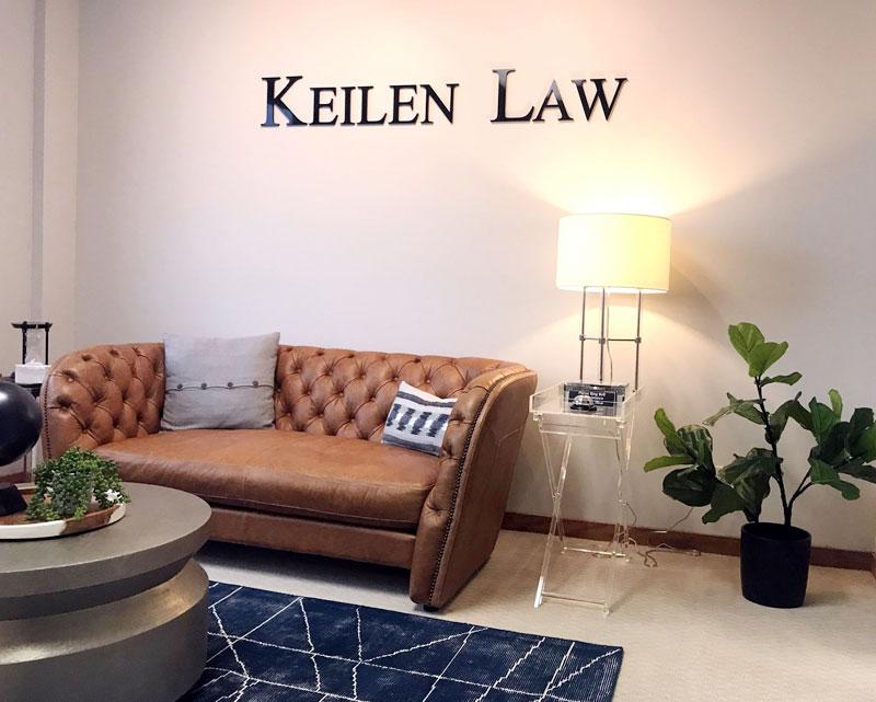 interior of keilen law kalamazoo offices